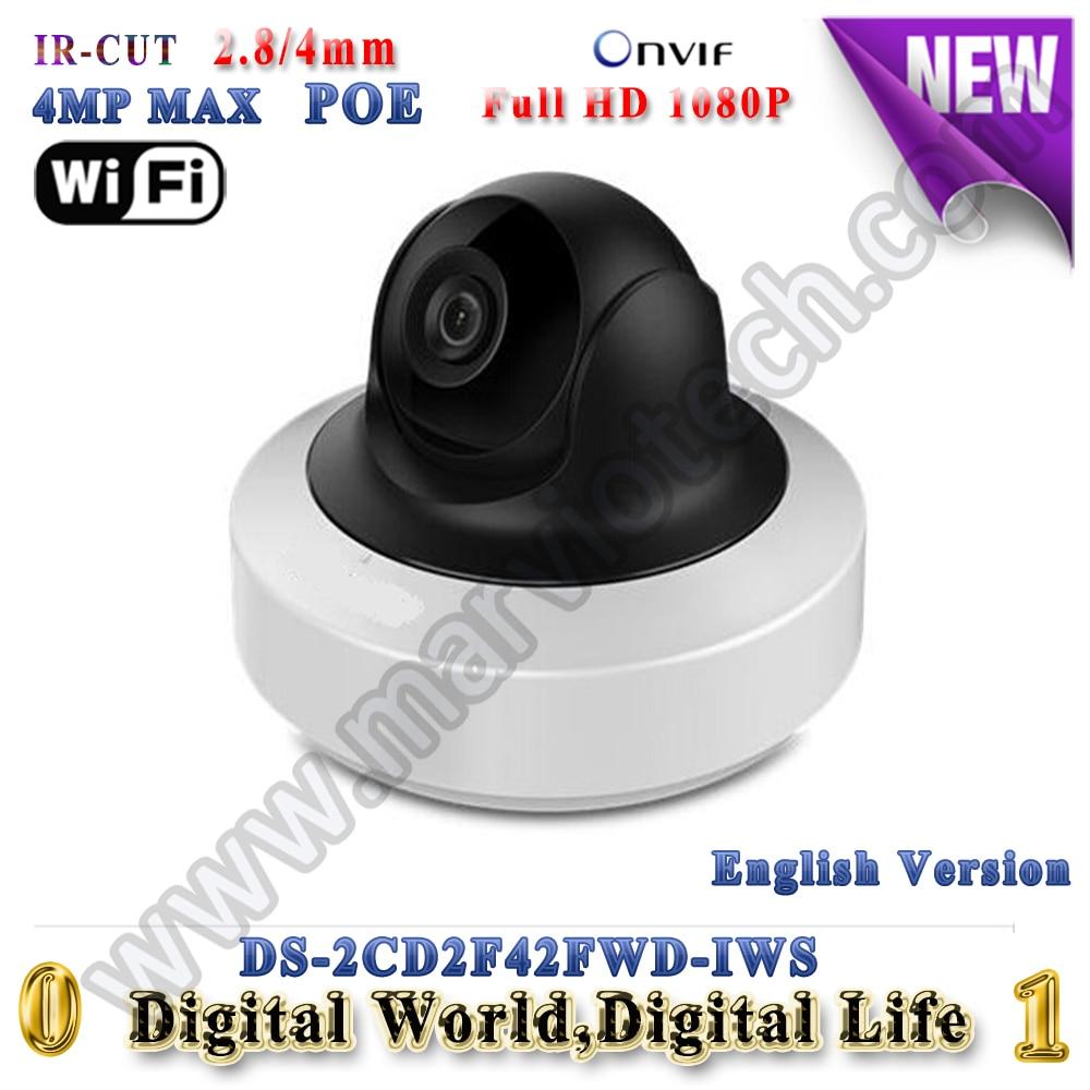 DS-2CD2F42FWD-IWS 4MP hikvision ip camera wifi mini PTZ ip cameras poe Video Surveilance camera cctv alarm audio TF Card slot touchstone teacher s edition 4 with audio cd