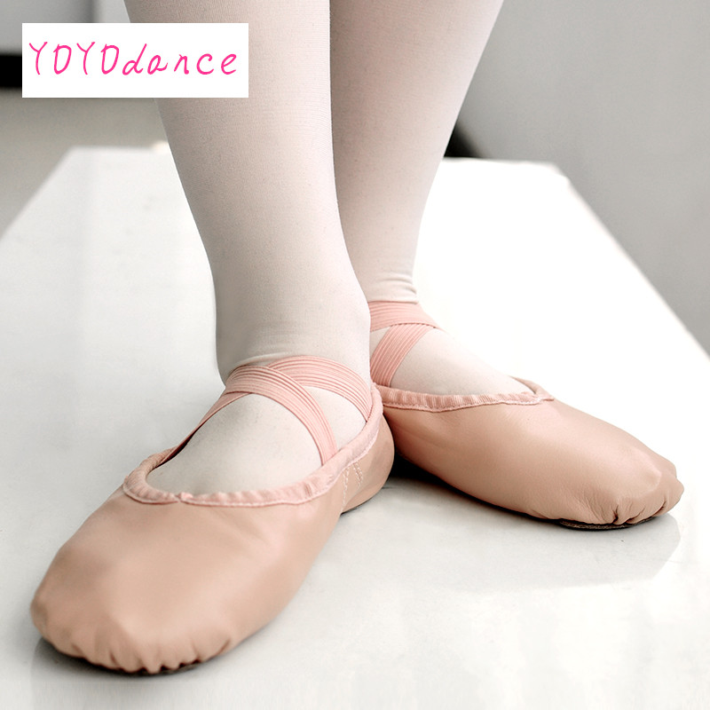 Kids Leather Ballet Shoes