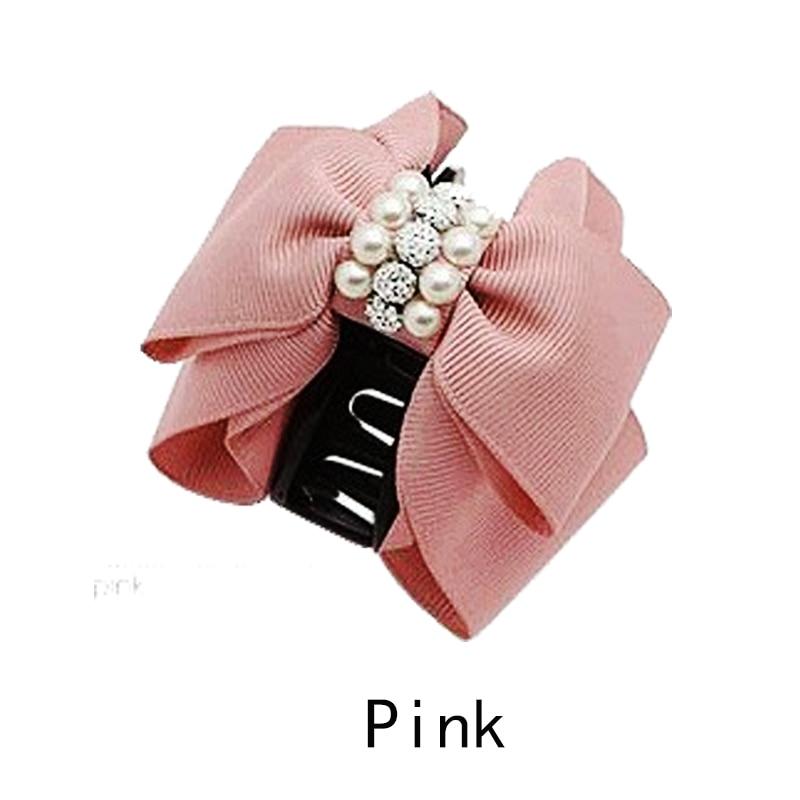 Nuevos accesorios para el cabello Moda encantadora perla Bow Bowknot pinza de pelo pinza de pelo para mujeres