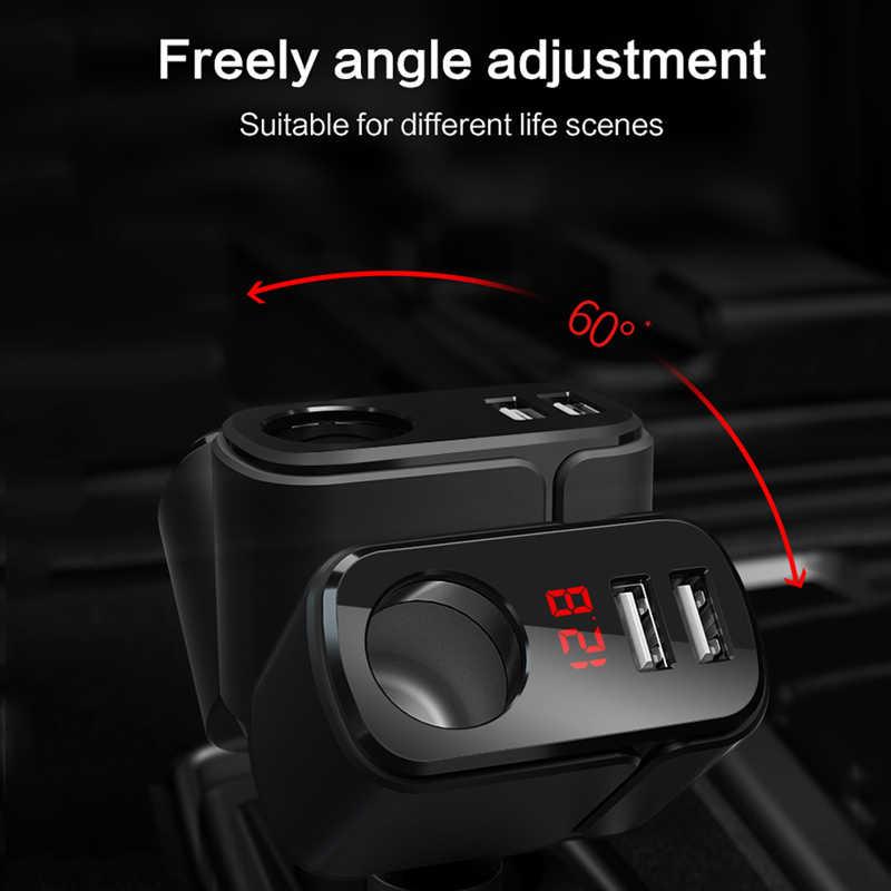 LINGCHEN USB מטען לרכב עבור סמסונג 3.4A מהיר טעינת רכב USB עם מורחב מצית רכב-מטען מתאם טלפון