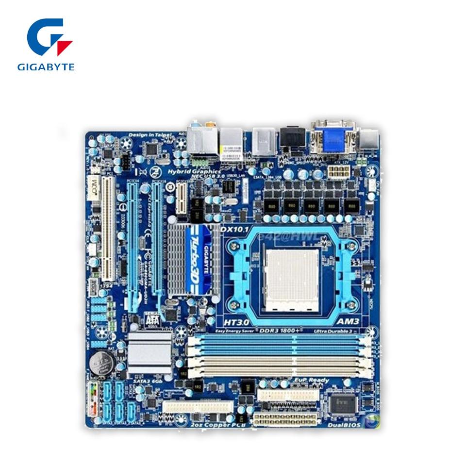 Gigabyte GA-880GMA-UD2H Original Used Desktop Motherboard 880GMA-UD2H 880G Socket AM3 DDR3 SATA3 USB3.0 Micro ATX gigabyte ga ma770 es3 original used desktop motherboard amd 770 socket am3 ddr2 sata2 usb2 0 atx