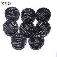 XFKM 50 100pcs Clapton Coil Alien V2 Wire Heating Wire For RDA RBA Rebuildable Atomizer Coil