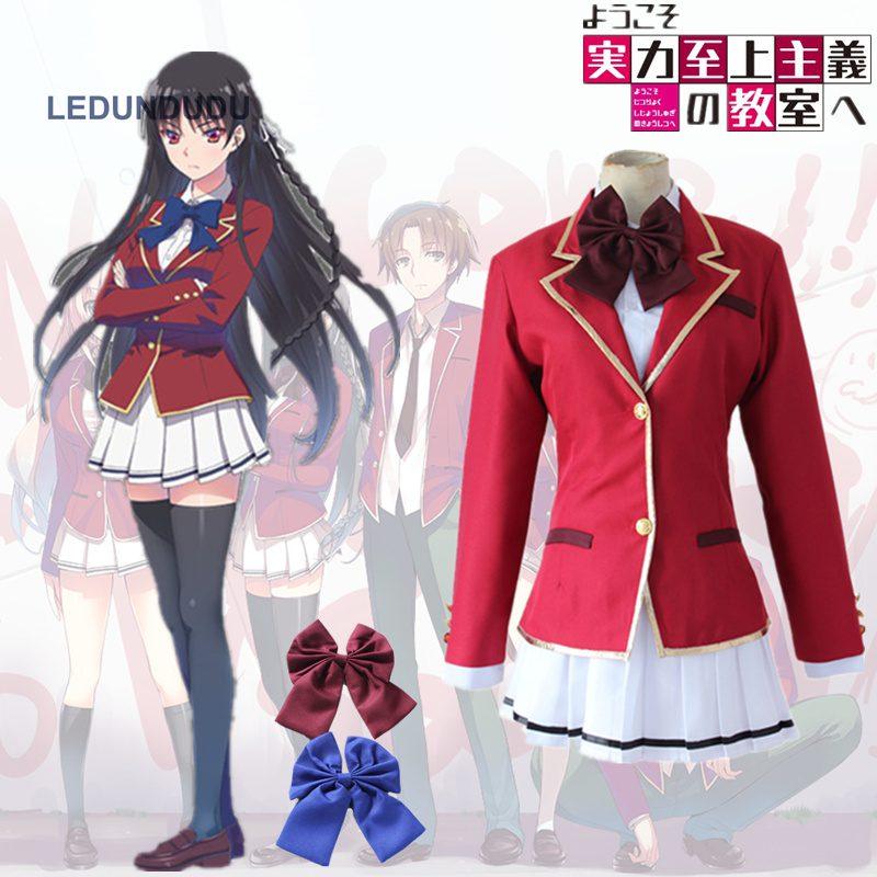 New Anime Youkoso Jitsuryoku Shijou Shugi no Kyoushitsu e Cosplay Kushida Kikyo School Uniform Horikita Suzune Women Costumes