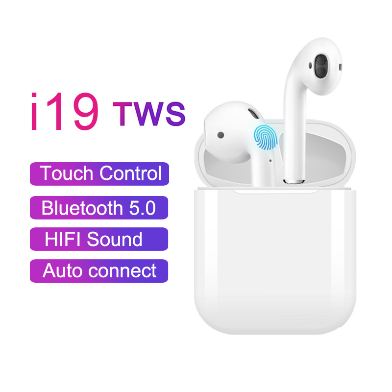 i19 <font><b>TWS</b></font> Wireless Bluetooth 5.0 Earphone touch control Headset Automatic Connection earbuds For IPhone Xiaomi pk <font><b>i11</b></font> i12 i7 <font><b>tws</b></font> image