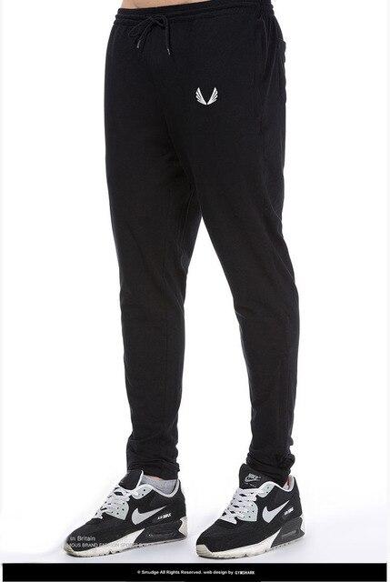 2016 Новый Мода Тренировочные Брюки Брюки Мужчины Шаровары осень зима мужская фитнес брюки сплошной цвет Человек Грузов Бегунов