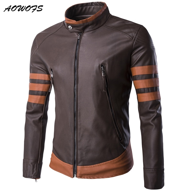 f65ef03c864 De Masculina Wolverine Moto Jaqueta Logans Roupas Outono Roupa Couro  wTxzv5gI