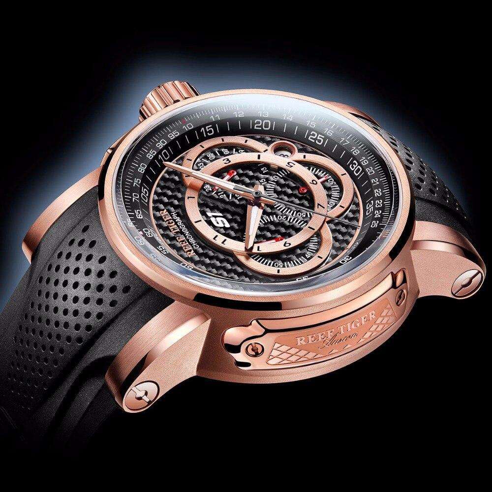 2019 Reef Tiger/RT Brand Sport Watches Reloj Mujer Men Quartz Chronograph Waterproof Watch Clock Men Relogio Masculino RGA3063