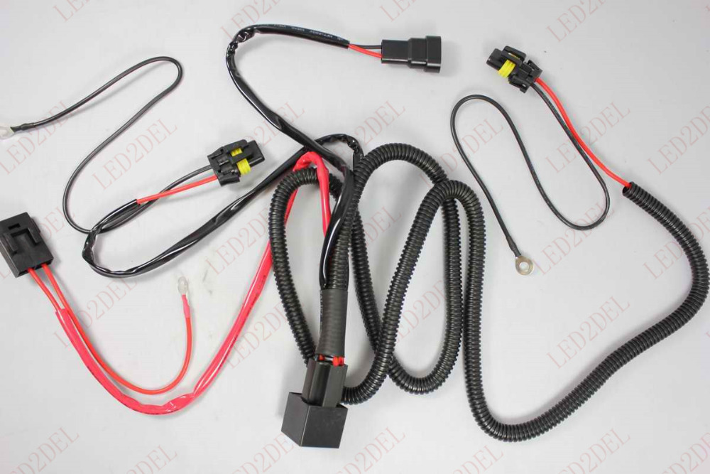 HID Xenon Conversion Light Relay Wiring Harness Kit H1 H7 H8 H9 H11 9005 9006 aliexpress com buy hid xenon conversion light relay wiring Electrical Harness Connectors at n-0.co