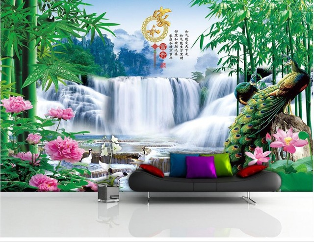3d Room Wallpaper Benutzerdefinierten Wandbild Vlies Foto Pfau