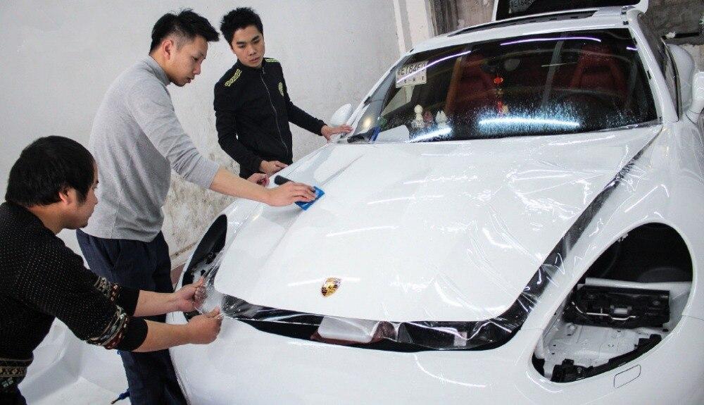 Rhino skin car bumper hood paint protection film for Car paint protection film cost