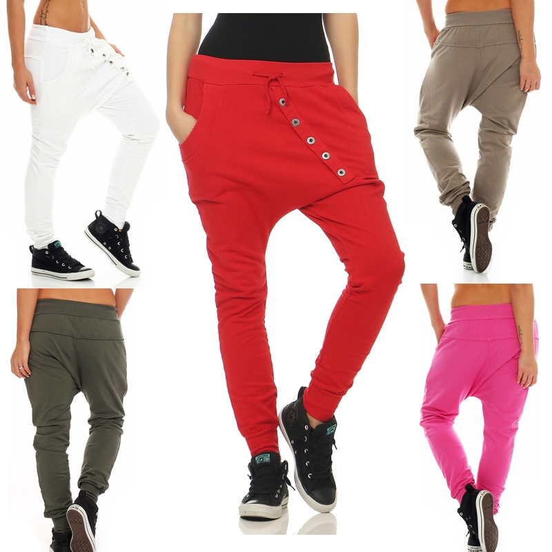 ZOGAA Brand New lace up pants Casual fashion joggers Cross pants streetwear pants women 10 color plus size S 4XL wide leg pants in Pants amp Capris from Women 39 s Clothing