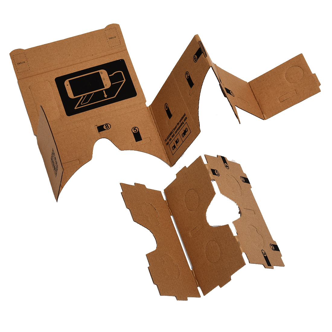 ETC Mobile phone cardboard quality 3D Virtual Reality Glasses
