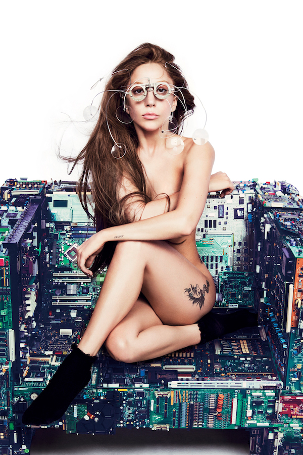 Custom Canvas Wall Decor Sexy Nude Girl Wall Stickers Mural Lady Gaga Poster Lady Gaga Wallpaper Office Cafe Music Decals #0243#