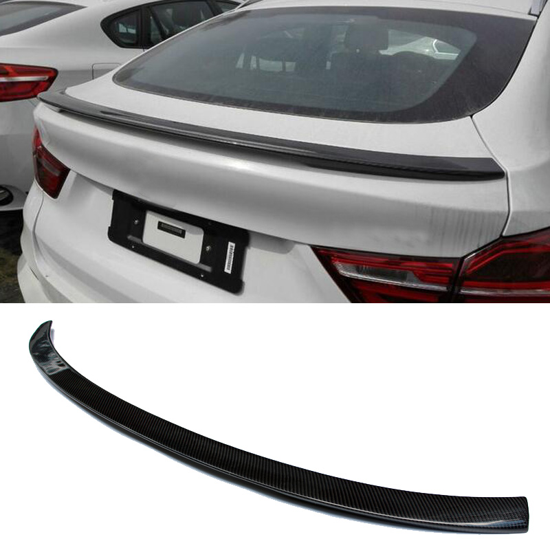 P Style Real Carbon fiber Trunks Boot Spoiler F26 X4 Fit For BMW