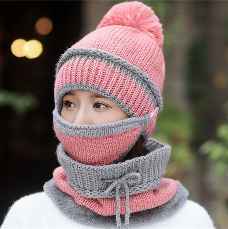 2018-HOT-Winter-Beanie-Hat-Scarf-and-Mask-Set-3-Pieces-Thick-Warm-Knit-Cap(2)