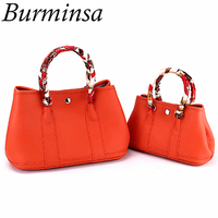 Burminsa Genuine Leather Bags Women Luxury Garden Party Tote Designer Handbags High Quality Female Shoulder Crossbody Bags 2018