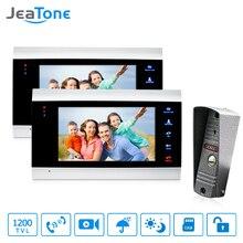 JeaTone 7 Zoll Beste Intercom Systeme Wohn Kommerziellen Home Security Video Tür Telefon Kit Tür Eintrag System Freies Garantie