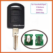 2 PCS*New Uncut 2 Button 433Mhz Remote Control Key  With ID40 for Vauxhall Corsa C Combo  Meriva 2001 2002 2003 2004