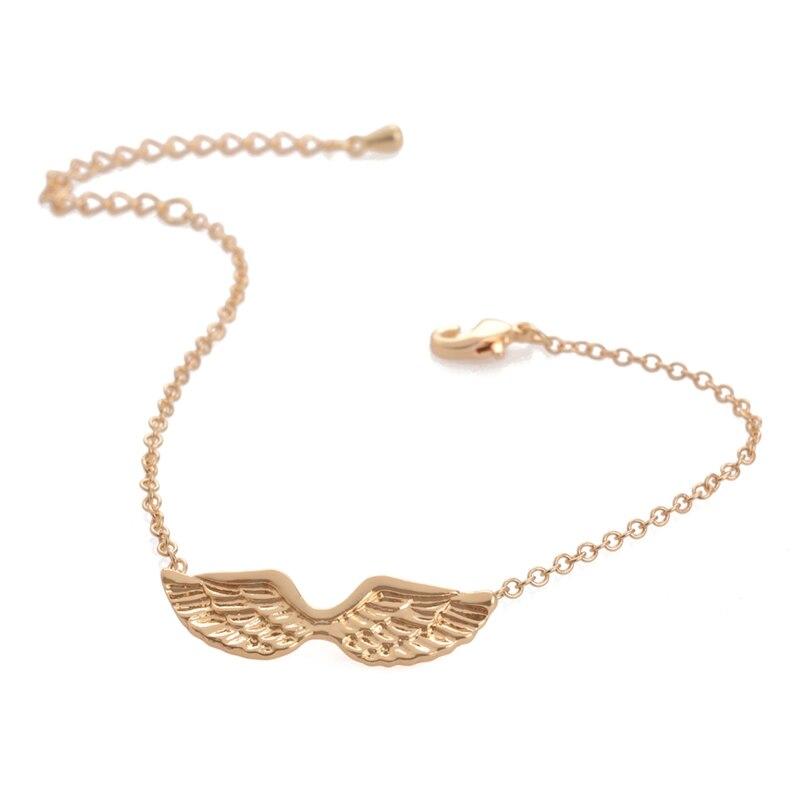Oly2u 10PCS -B016 New Gold Bling Trendy Icarus Wing Bracelets Angel Wings Bracelet Guardian Angel Bracelet