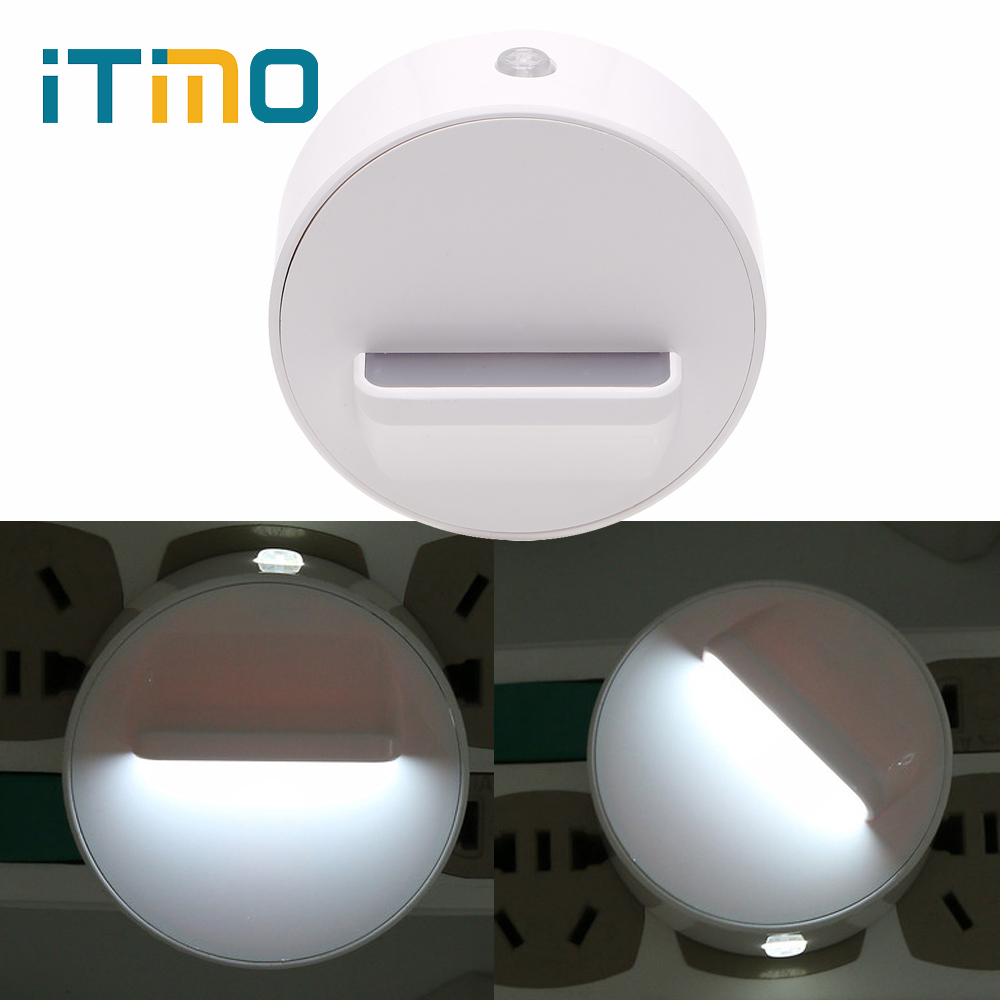 iTimo US Plug LED Night Light 360 Degree Rotation Plug-in Wall Lamp Home Lighting Baby Room Decors Bedroom Lamp Switch ControliTimo US Plug LED Night Light 360 Degree Rotation Plug-in Wall Lamp Home Lighting Baby Room Decors Bedroom Lamp Switch Control