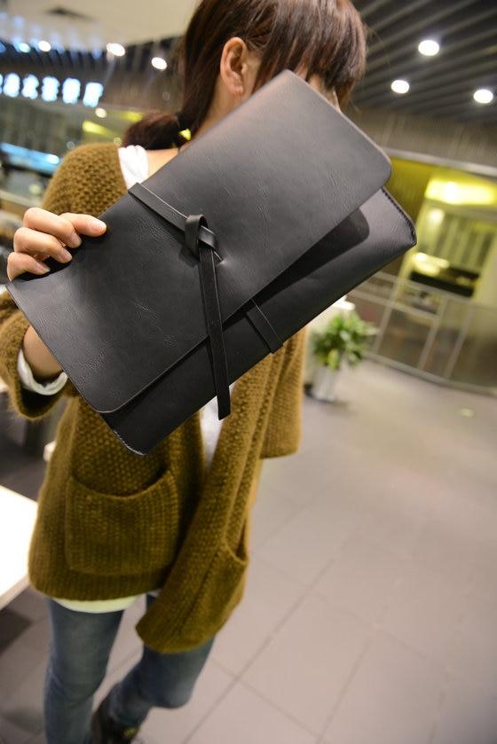 2016 new Korean American male wind ladies hand bag retro package tide clutch hand bag leather