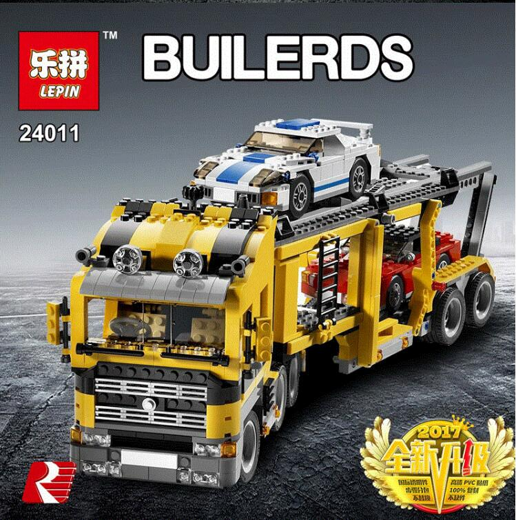 LEPIN 24011 Technic Series Three in One Highway Transport Set Educational Model Building Blocks Brick Toys Gift LegoINGlys 6753 transport phenomena in porous media iii