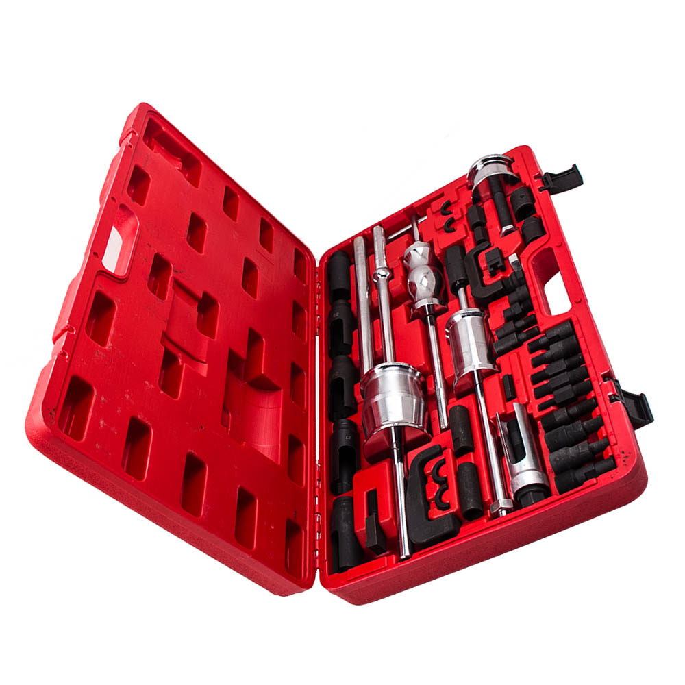 Complete Kit Auto Truck Diesel Injector Extractor Slide For Hammer Puller Tool Kits 9pcs professional master diesel injector extractor set with common rail adaptor slide hammer injection puller cdi tool kit set