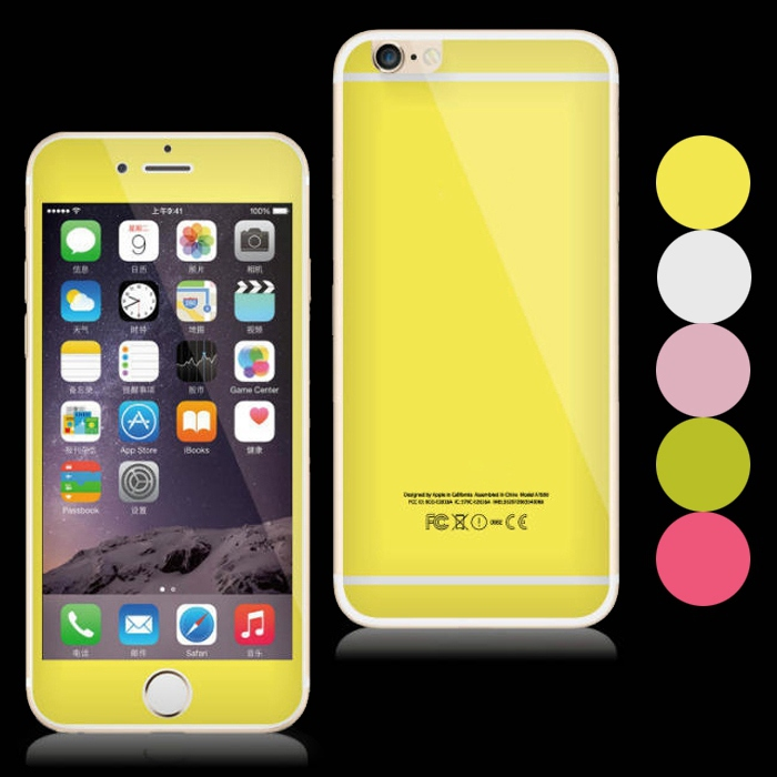 For IPhone 6 Plus 6s Colorful Bling Front Back Glitter Tempered Glass Screen Protector 55 Film In Protectors From