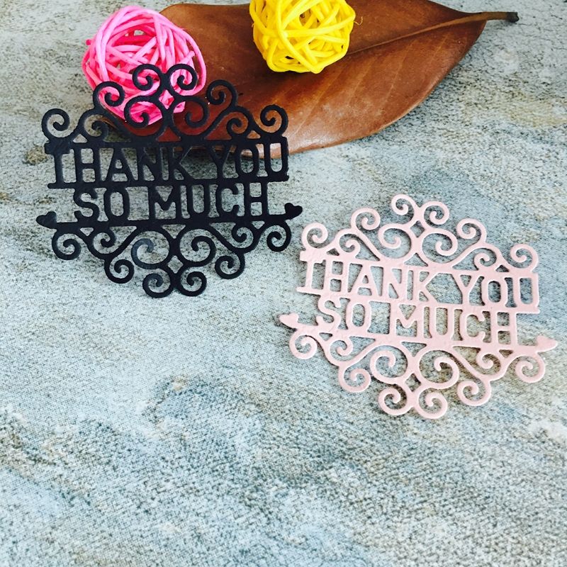 Metal Cutting Dies New 2017 Thank You So Much Cutting Dies Stencil DIY Scrapbooking Album Card Embossing Craft