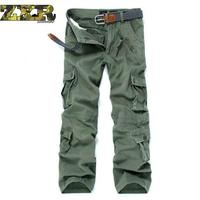 Tactical Pants Airborne Casual Pants Khaki Paintball Plus Size Cotton Pockets Military Army Camouflage Cargo Pant For Men
