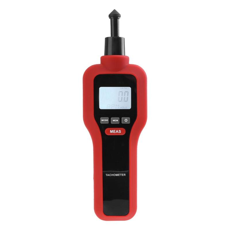 Portable Handheld Precise Digital Laser Tachometer Tach RPM Tester Motor Electrical Non-Contact Rev Speed Meter Tester Tool
