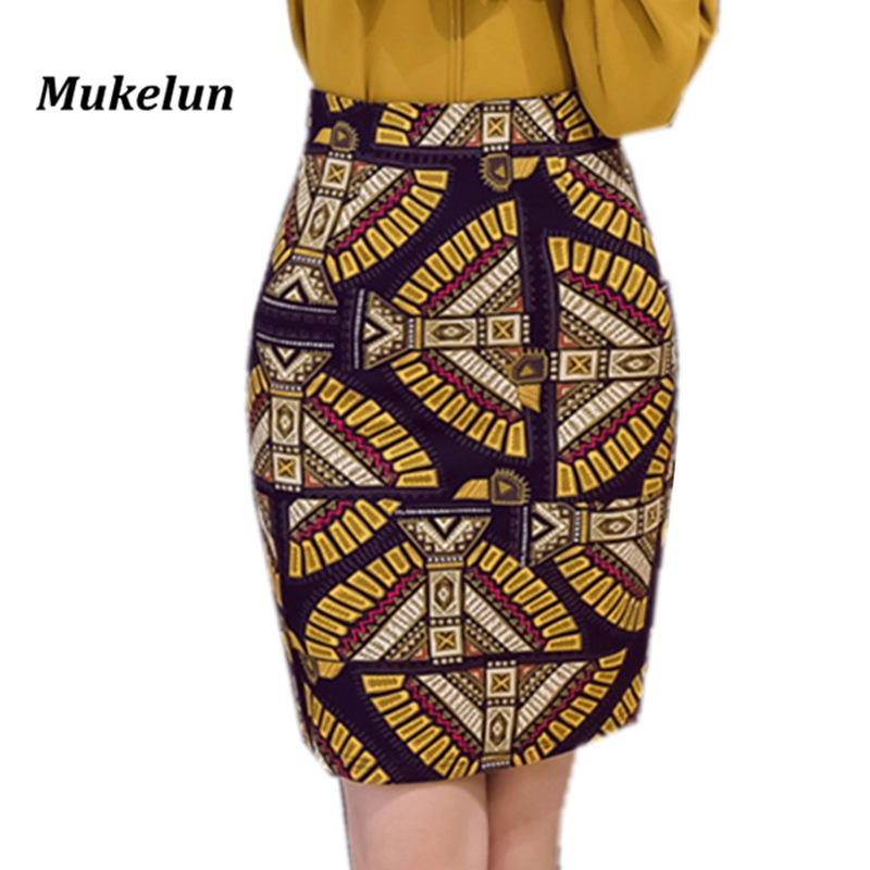 S-5XL Womens Sexy Pencil Skirt 2018 Casual Summer Elegant Print Plus Size Formal Office Bodycon Colorful Mini Skirts Female