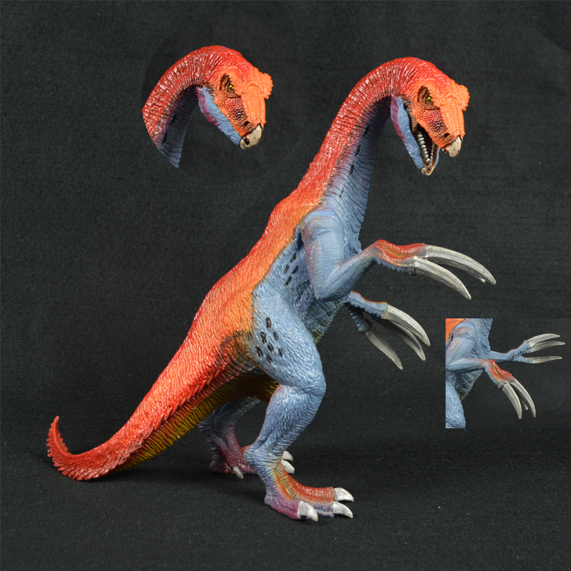 Therizinosaurus Model Toy plastic Dinosaur Children Animal Models collection ancient time zoo Classic toys gifts mr froger bengal white tiger model toy wild animals toys set zoo modeling plastic solid classic toy children animal models cute