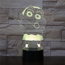Cartoon Crayon Shin chan Night Light Led Figure Children Kids Boys Gift Manga Japanese Anime Kureyon Shinchan Desk Lamp Bedroom