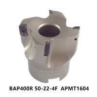 New BAP400R BAP400R 50 22 4Fright Angle Shoulder Face Mill Cutter 4pcs Inserts Are Fitted On