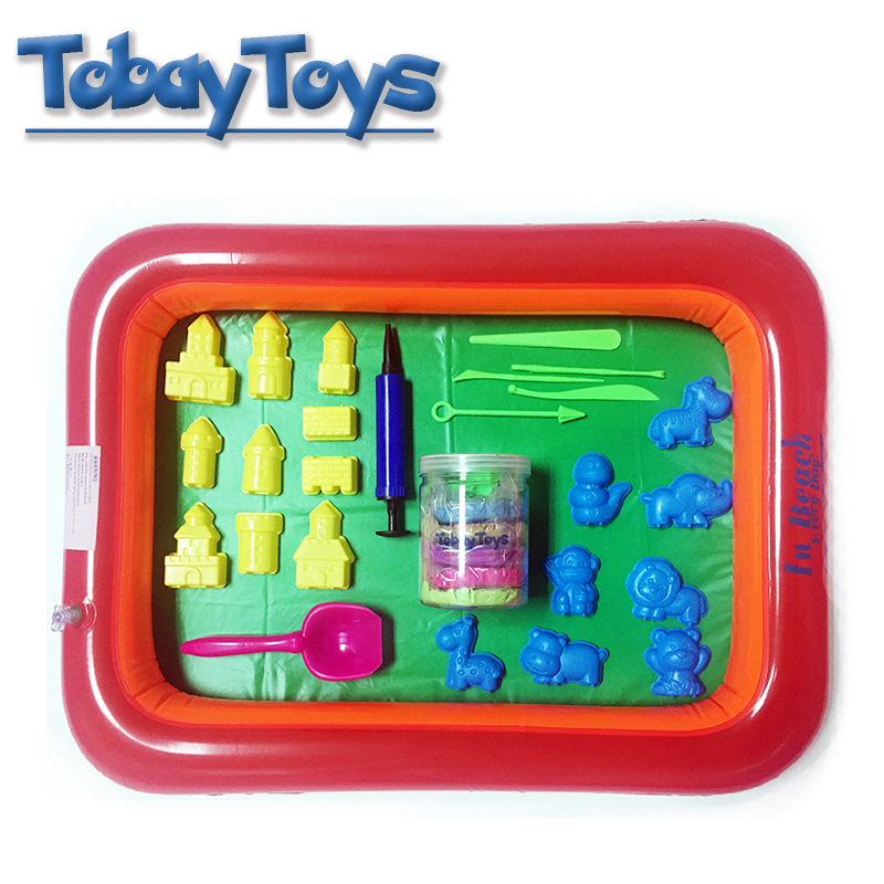 Colorful Inflatable Sand Tray Plastic Mobile Table Play Dough Mold Tools Set Kids Indoor Sand Toy Funny Polymer Clay Beach Toy-in Modeling Clay from Toys ...  sc 1 st  AliExpress.com & Colorful Inflatable Sand Tray Plastic Mobile Table Play Dough Mold ...