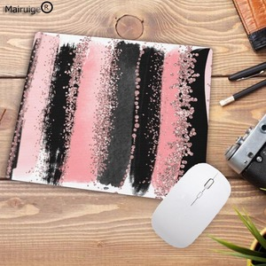 Image 4 - Mairuige preto listras de aquarela promoção jogos tamanho pequeno 22x18cm velocidade mouse pad computador mousepad melhores esteiras para gamer esteira