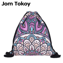 цена на New fashion Women mandala Backpack 3D printing travel softback women mochila drawstring bag
