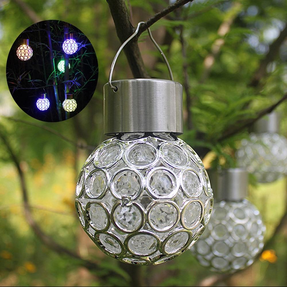 Light Sensor LED Solar Hanging Lantern Lamp Color Garden ...