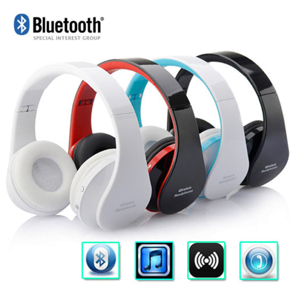 bilder für Heißer Verkauf Drahtlose Bluetooth Headset Stereo Faltbare Kopfhörer Freisprecheinrichtung Kopfhörer mit Micphone für iPhone für Galaxy für HTC