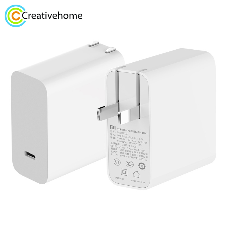 Xiaomi QC3.0 Power Adapter Type c MI USB C 45W 5V 3A Xiaomi Quick Charger Dual USB Wall Outlet Socket Travel Adapter