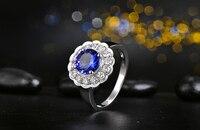 18Kt 750 Gold 1 15ct Natural Tanzanite 0 58ct Round Cut Diamond Engagement Ring Jewelry Gemstone