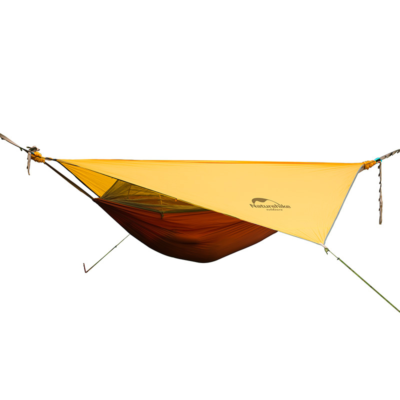 Outdoor Ultralight Portable Hanging Tent Hammock With Bed Net Sleeping Mesh Tents Camping Bed Single Person Orange Gray 1.5KG outdoor double layer 10 14 persons camping holiday arbor tent sun canopy canopy tent