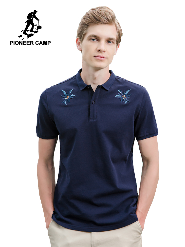 Pioneer Camp New design short   polos   men brand clothing fashion casual Embroidery   polo   male top quality 100% cotton ADP701147