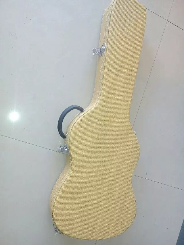 Yellow Woolen cloth Hardcase for lp guitar etc Not sold separately hardcase for jazz guitar not sold separately