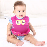 newborn design cartoon waterproof aprons Baby Bibs Baby bibs waterproof silicone feeding baby saliva towel