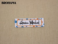 98 Custom Labels Custom Clothing Labels Name Tags Text Boxes White Organic Cotton Iron TB042