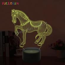 Led 3D イリュージョンクール馬の形のランプ ナイトランプ雰囲気常夜灯誕生日プレゼントとして