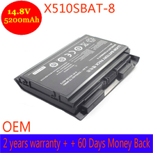 2017 New 6-87-X510S-4D72 Battery for Clevo P150HMBAT-8 P150EM P151HM Laptop 6-87-X510S-4D72 Battery 14.8V,8-Cells Free Shipping