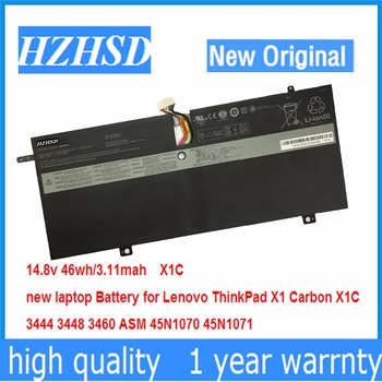 14.8V 46Wh New Original Laptop Battery for Lenovo ThinkPad X1C Carbon 45N1070 45N1071 3444 3448 3460 image